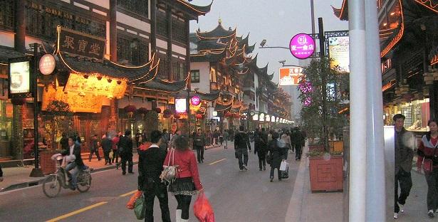 上海の古き街の模倣