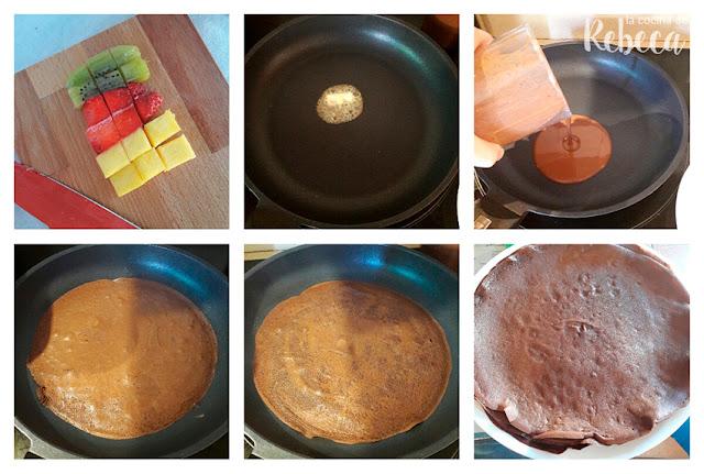 Receta de crêpes de chocolate: la cocción