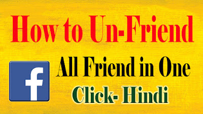 How to Unfriend All Facebook Friends In One Click