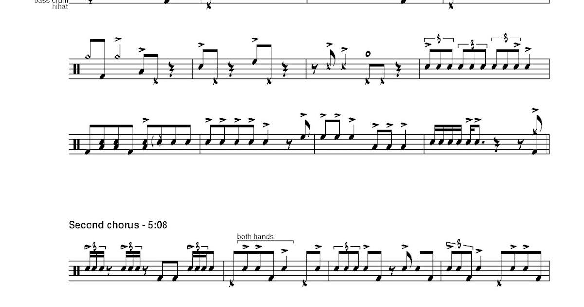 Cruise Ship Drummer Transcription Paul Motian Israel