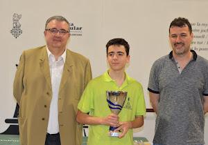 Adrián Galiana campeón juvenil de la Comunidad Valenciana, Juan Sendra subcampeón, Miguel Bas tercero, Ana Erades campeona.