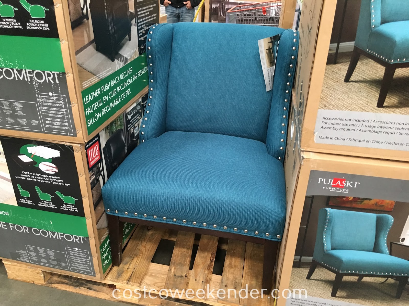 Sit in comfort on the Pulaski Furniture Fabric Accent Chair
