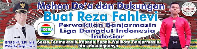 Reza Fahlevi perwakilan Kota Banjarmasin di liga dangdut (lida)