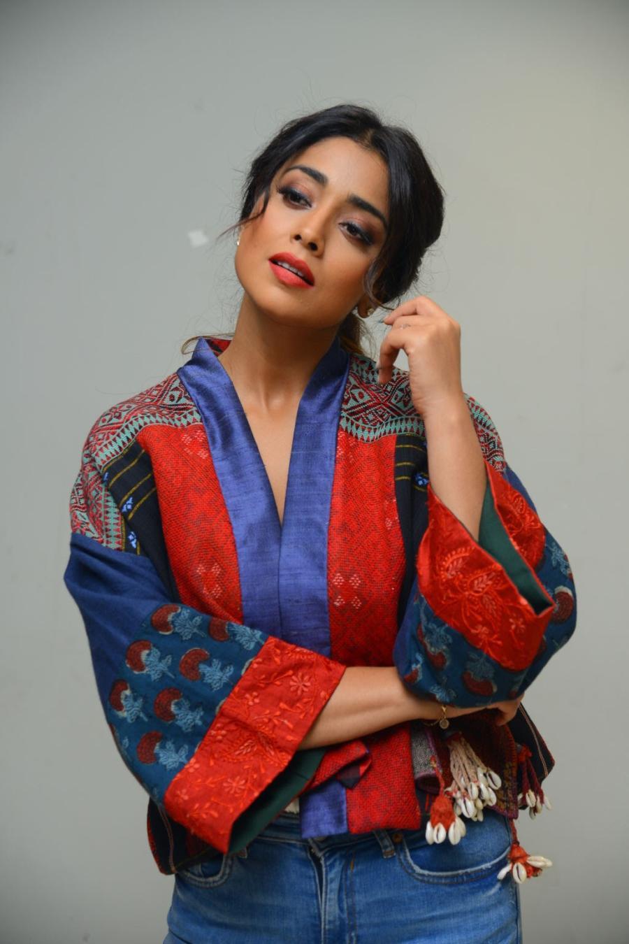 Shriya Saran at Raja Vaaru Rani Gaaru Movie Poster Launch