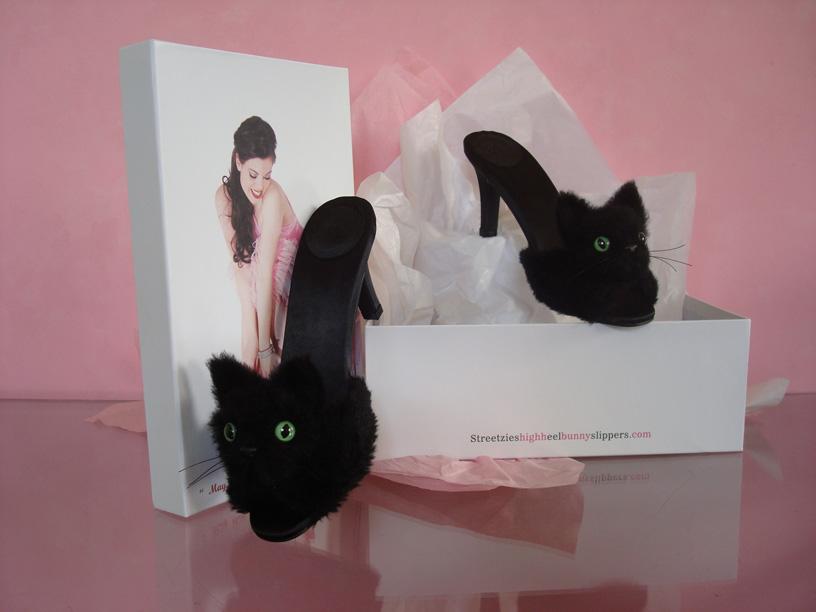 b212eadc2861 Catsparella  Streetzie s Glamorous Kitten High Heel Mules