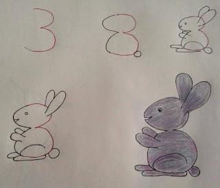 رسم لأرنب