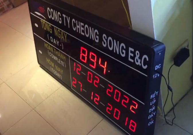 Đồng hồ đếm ngược ngày Công Ty Cheng Loong E & C
