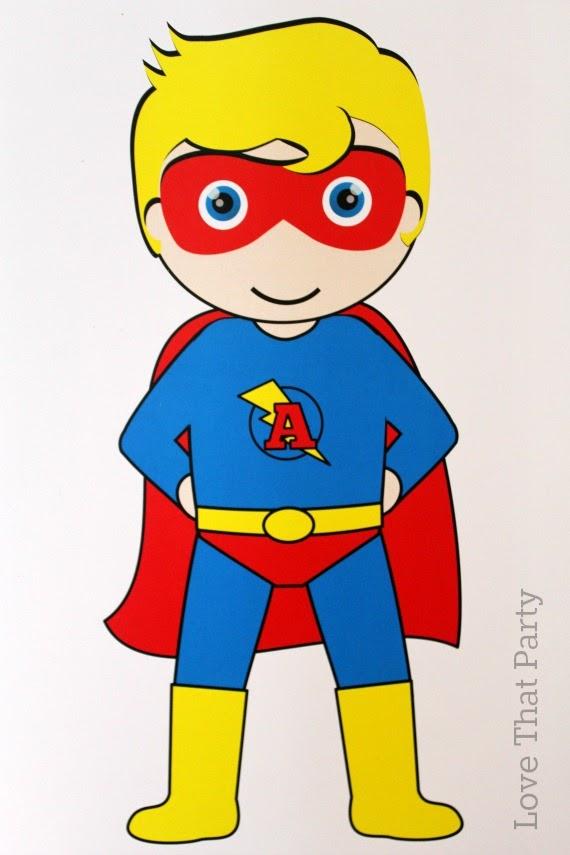 image of superheroparty birthday decorations