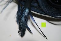 Feder: Valdler Damen Fascinator Hut Mini-Hut Feder Ineinander greifen Netz Fasching Haarschmuck