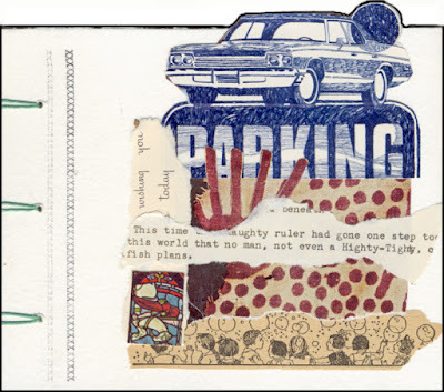 Folding collage book