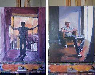 work in progress paintings for Aynsley Lister album Eyes Wide Open