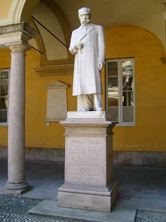A statue within the campus of Pavia University commemorates Golgi's life and work