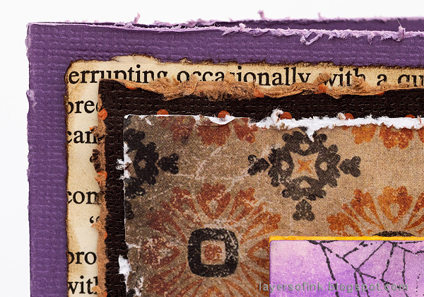 Layers of ink - Waterfall Video Tutorial by Anna-Karin Evaldsson, Halloween Waterfall Card.