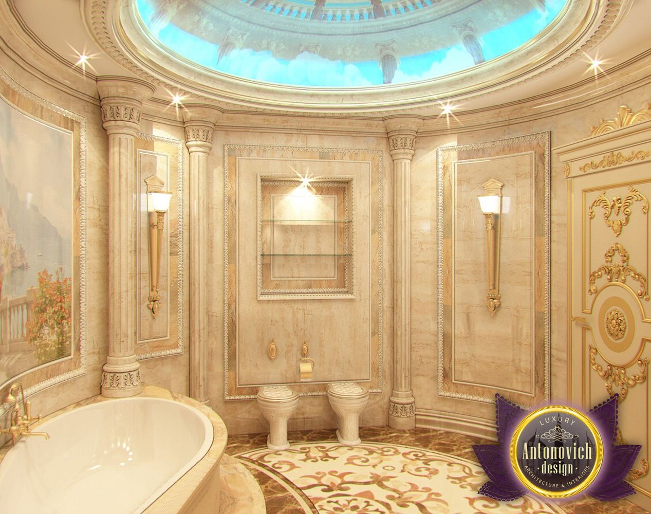 nigeiradesign: Bathroom designs by Luxury Antonovich Design