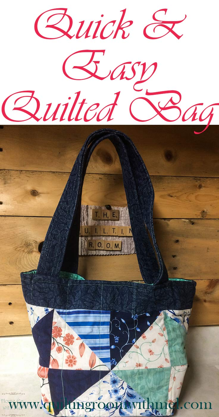 quick and easy quilted bag