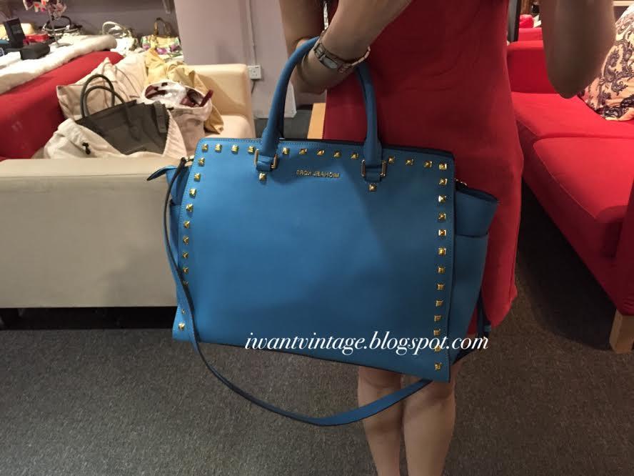 69cf8c2fa684 I Want Vintage | Vintage Designer Handbags: Michael Kors Large Selma ...