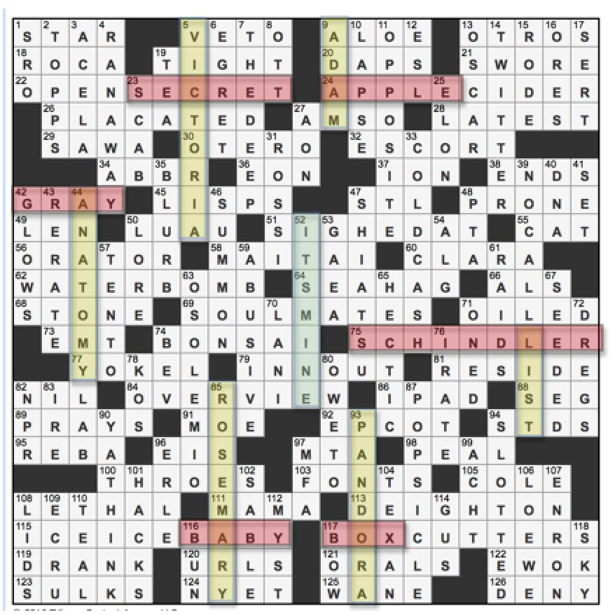 Dating Stumbling Block Crossword Clue