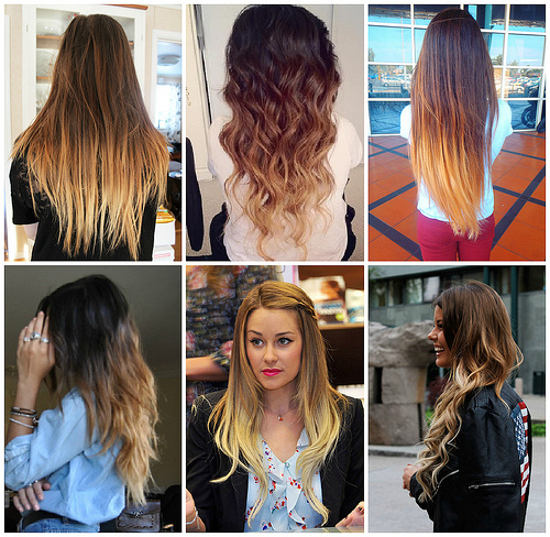 Ombre Hair Color Blonde Bottom