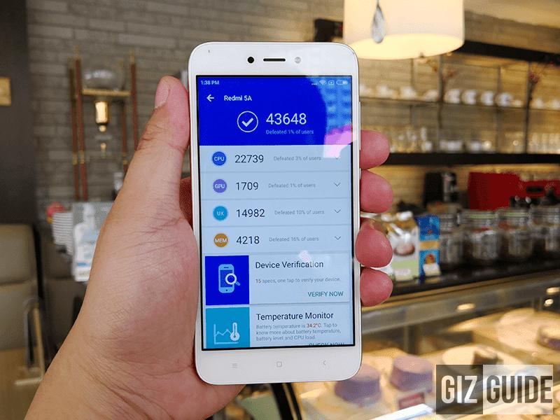 xiaomi-redmi-5a-antutu Xiaomi Redmi 5A Unboxing and First Impressions Technology