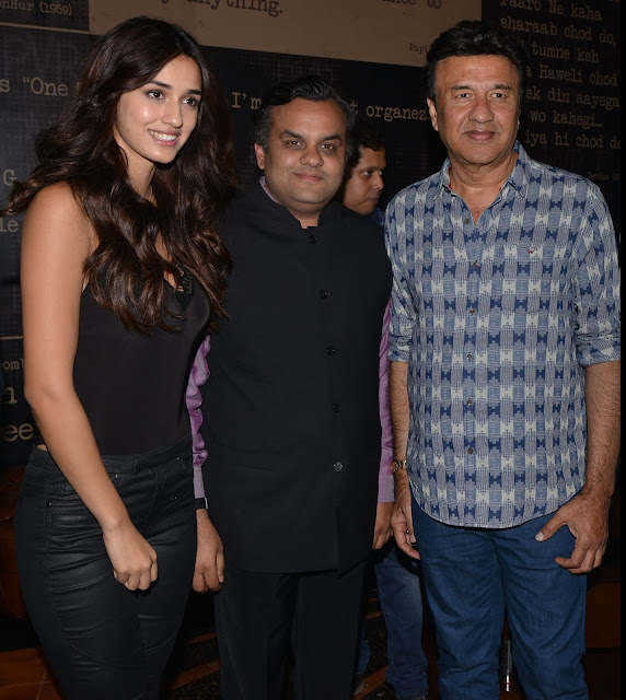 Pic-2: Mr. Anirudh Dhoot, Director, Videocon with Anu Malik and the promising newbie Disha Patani at the premier of 'Kung Fu Yoga'