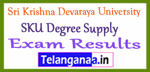 Sri Krishna Devaraya University SKU Degree Supply Exam Results