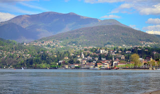 Luino sits on the shore of Lake Maggiore