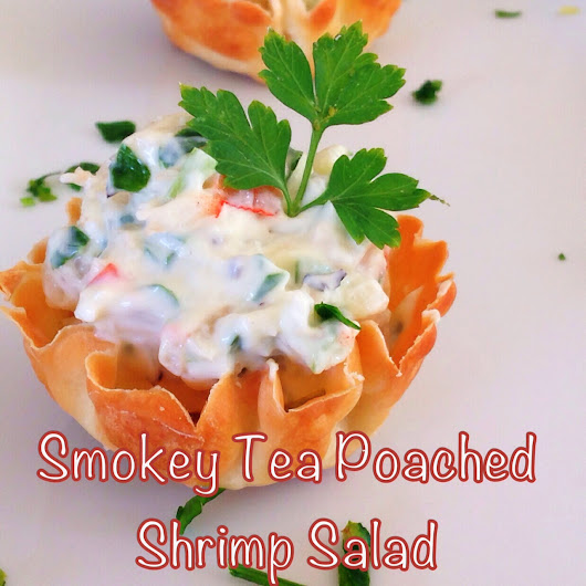 ShowFood Chef: Smokey Tea Poached Shrimp Salad