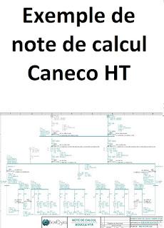 Exemple Synoptique note de calcul Caneco