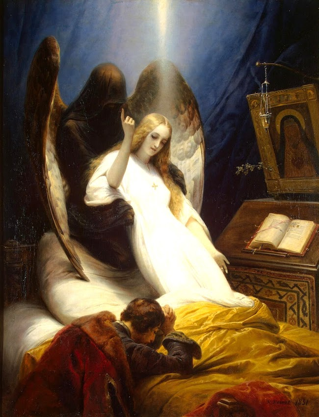 Horace Vernet - The Angel of Death (1851)