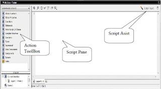 pengertian Action Script merupakan bahasa pemograman dalam Flash, yang berguna dalam pembuatan atau membangun suatu animasi, game atau media interaktif lainnya. pembuatan atau penulisan Action Script terbagi menjadi 2 jenis, yaitu FRAME SCRIPT dan OBJECT SCRIPT.