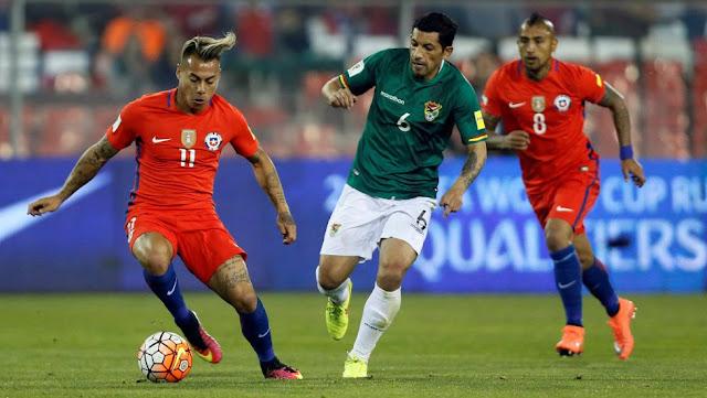Chile y Bolivia en Clasificatorias a Rusia 2018, 6 de septiembre de 2016