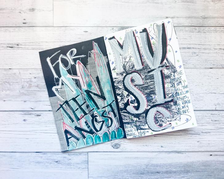 Get Messy art journal page