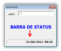 StatusBar, Barra de Status, Excel