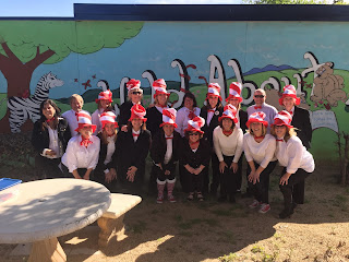 Dr. Seuss Day photo of the Rose Drive Staff