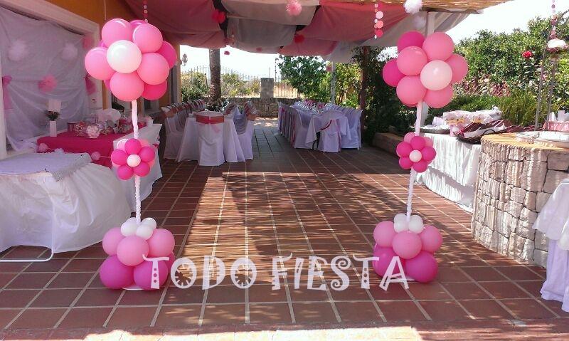 Decoraci n con globos de todo fiesta decoracion para 15 a os for Decoracion de pared para quinceanera