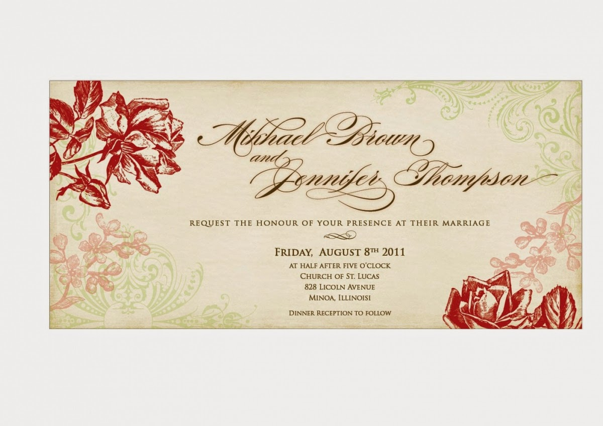 Print Out Wedding Invitations: Printable Birthday Cards: Printable Wedding Invitations