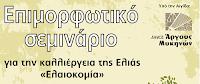 Παράταση υποβολής αιτήσεων στο σεμινάριο βραχείας εκπαίδευσης, «ελαιοκομία»
