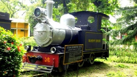 vulcan locomotives train in saidpur railway workshop