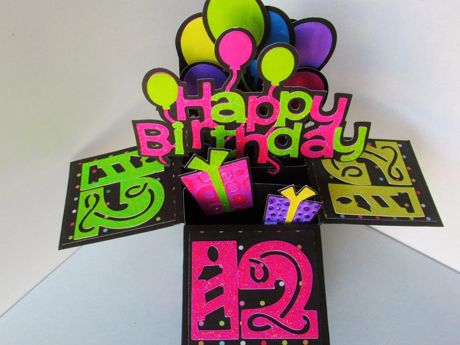 carol's creations happy birthday pop up box card