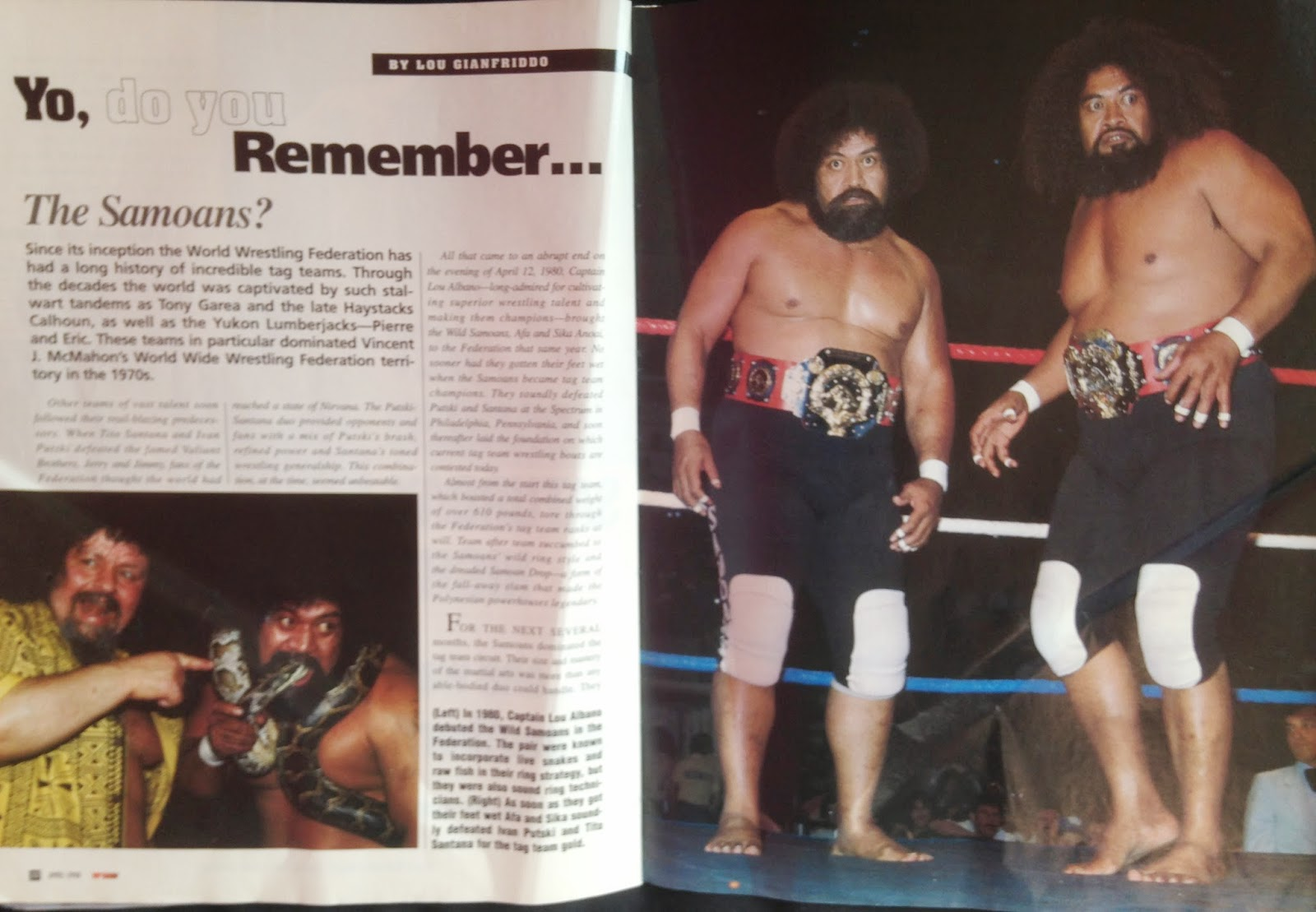 WWE - WWF Raw Magazine - April 1998 - Remembering The Samoans