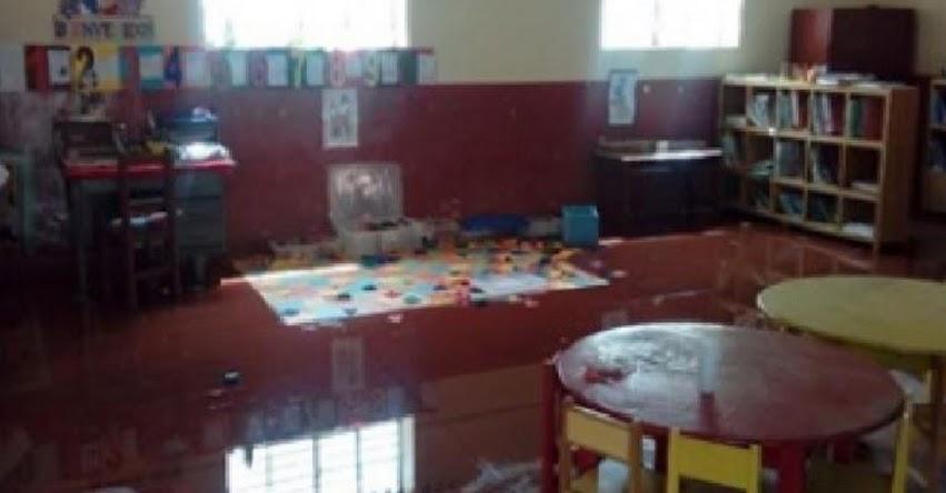 Lluvias intensas afectan ambientes de colegio en Toclla, en la sierra de Áncash
