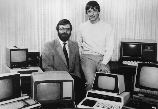 Bill Gates & Paul Allen Reunite to Reprise Classic Early Microsoft Photograph - You've got to see this!
