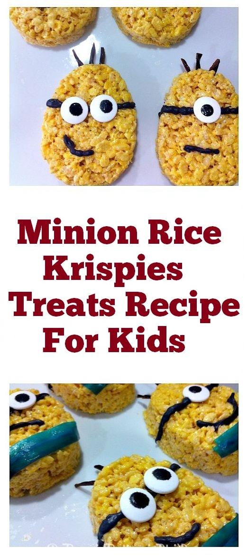 Minion Rice Krispies Treats Recipe For Kids | Treats For Kids, kids food recipe, recipe for kids, snacks for kids, snacks recipe, treats recipe #kidsfood #snacks #ricekrispies #krispies #rice #minion #snackrecipe #kidsnacks #kids #kidstreats
