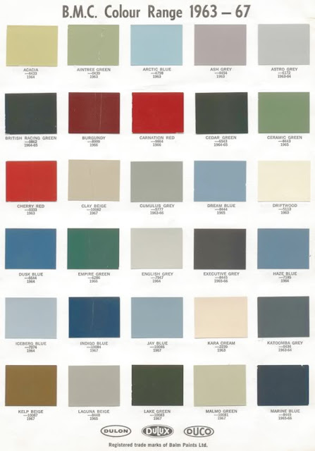 Berger Colour Chart