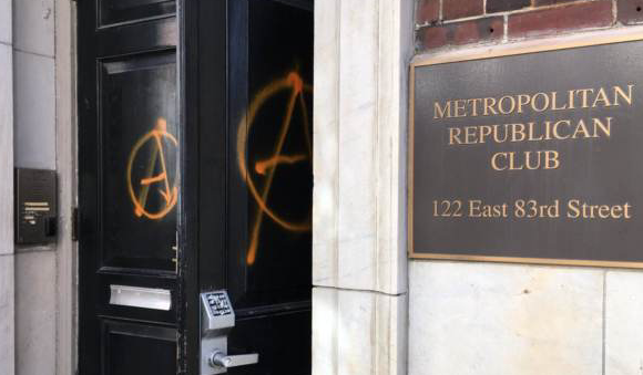 Antifa Mob Vandalizes New York Republican Headquarters