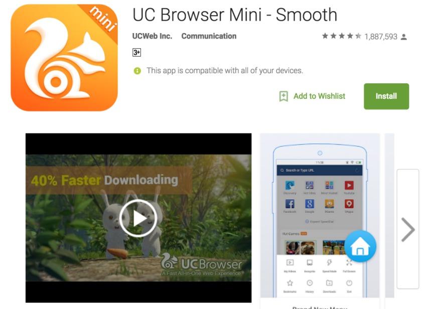 fastest downloading browser apk