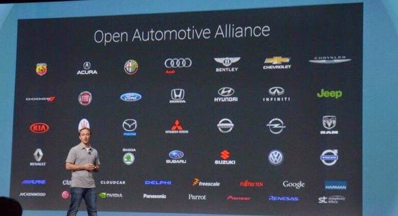 Android auto forming alliance with automobile companies