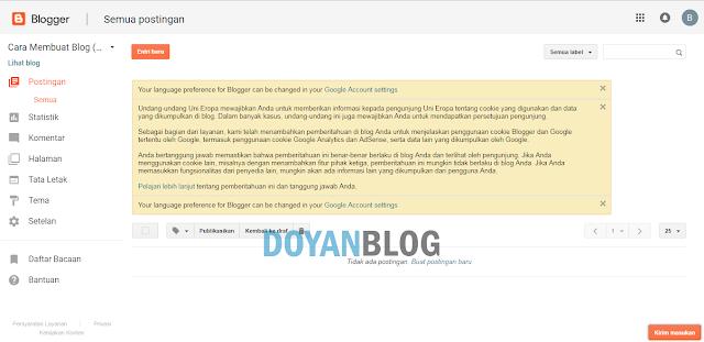 kesepuluh blog telah berhasil dibuat