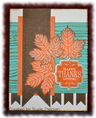 Thanksgiving, Magnificent Maple, Stamp with Trude, Stampin' Up!, fall, autumn, Tags 4 You
