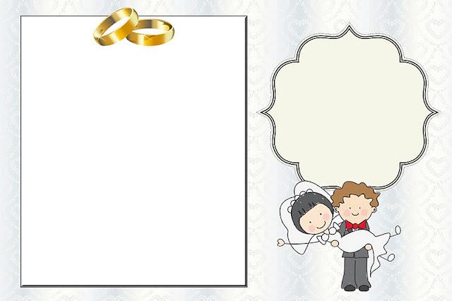 casamento noivos fofinhos kit completo com molduras para convites